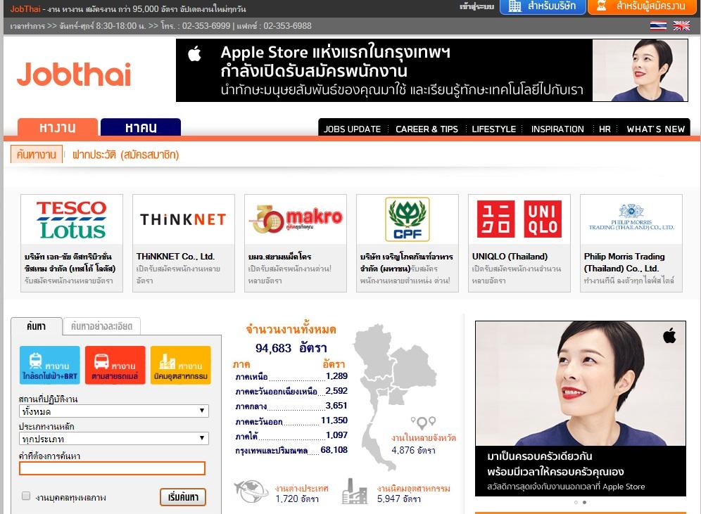 หางานออนไลน์ Jobthai