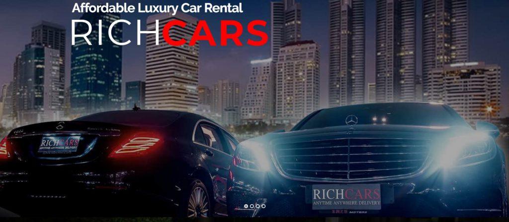 RichCars ให้บริการเช่ารถหรู เช่ารถสปอร์ต