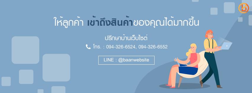 Baanwebsite บ้านเว็บไซต์ บริษัทรับจัดทำเว็บไซต์