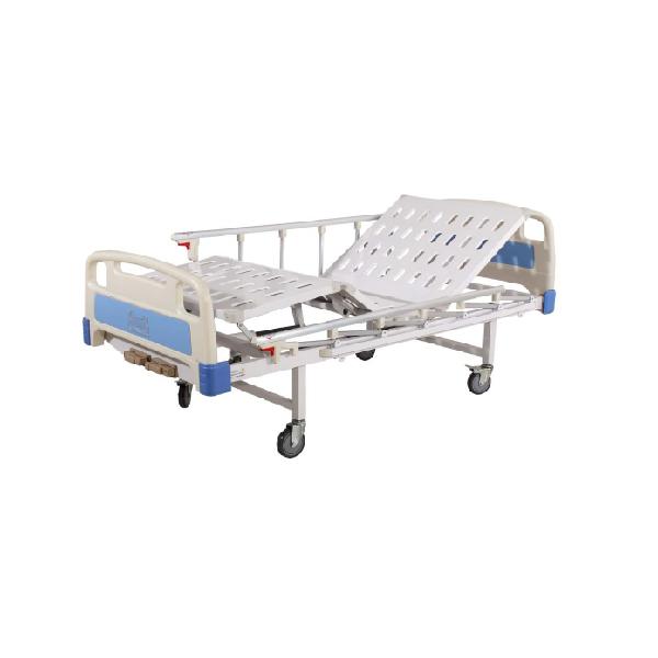 เตียงผู้ป่วยหมุนมือ 2 ไกร์ (ราวสไลด์)