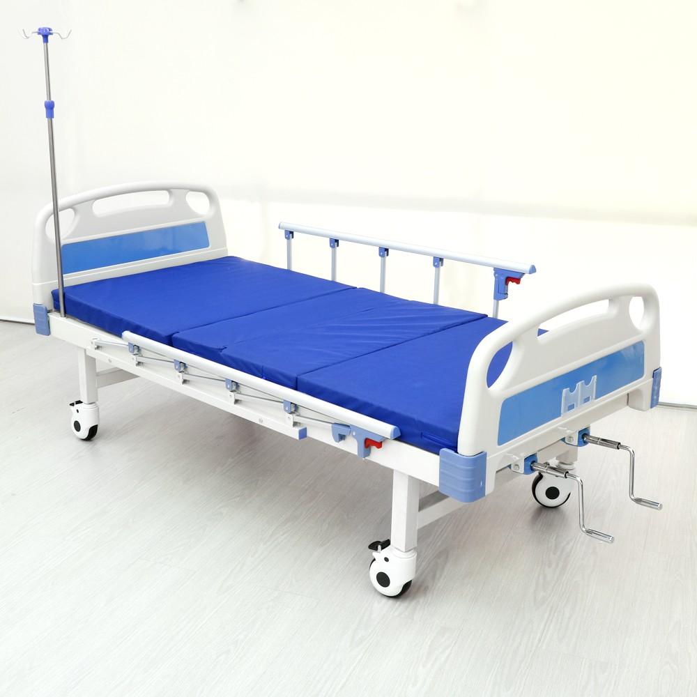 เตียงผู้ป่วยหมุนมือ 2 ไกร์ (ล้อล๊อคอิสระ)