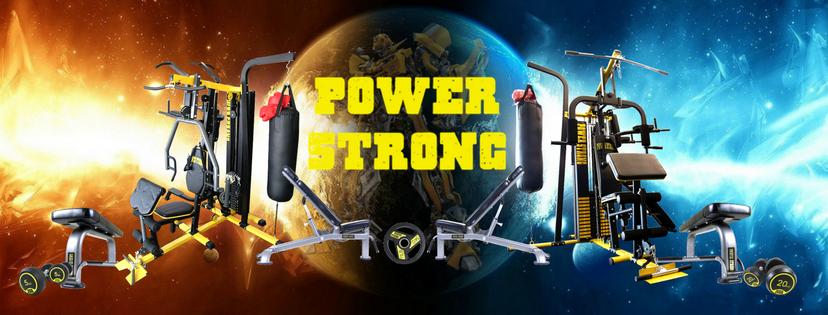 POWER STRONG อุปกรณ์ออกกำลังกาย เครื่องออกกำลังกาย ดัมเบล บาร์เบล ม้านั่งออกกำลังกาย